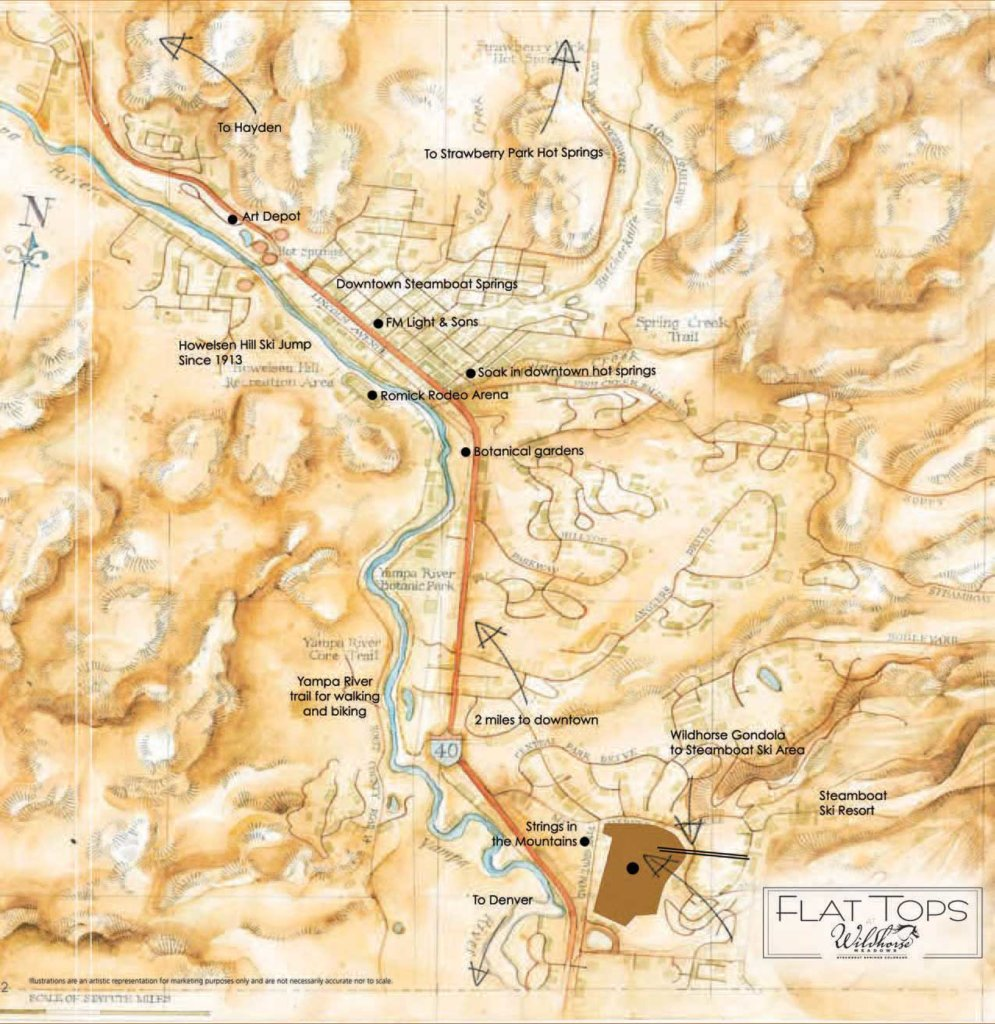 Area Map of Flat Tops at Wild Horse Meadows