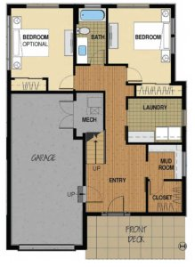 Floor Plan A 1st Floor Option 2